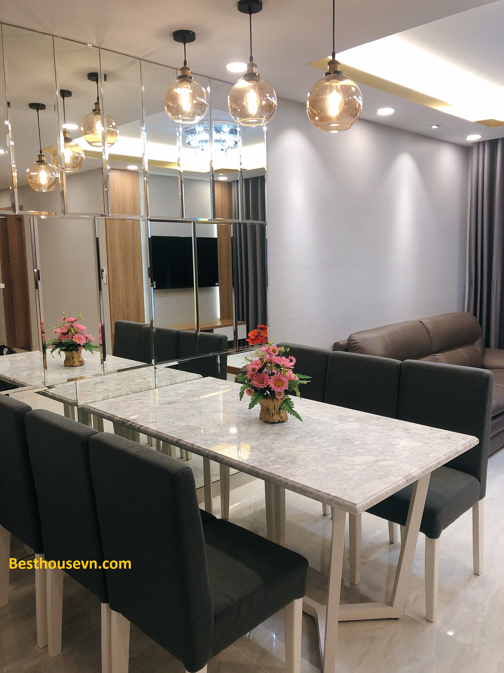 Luxury Hung phuc  97sqm apartment-for-rent